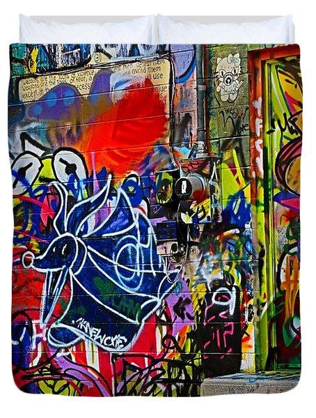 Art Alley Three Duvet Cover