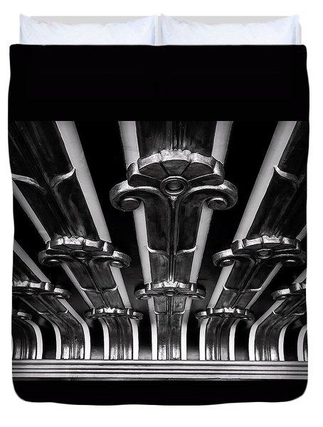Art Deco At The Henry Fonda Bw Duvet Cover