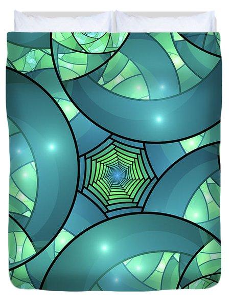 Duvet Cover featuring the digital art Art Deco by Gabiw Art