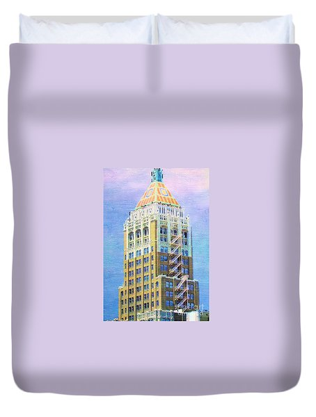 Art Deco Lives At Philtower Duvet Cover by Janette Boyd
