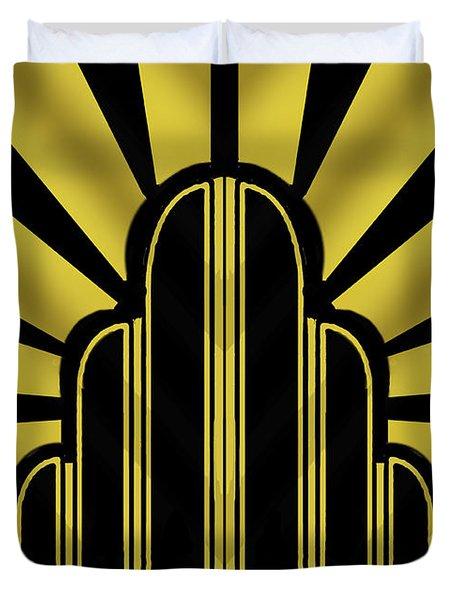 Art Deco Poster - Title Duvet Cover