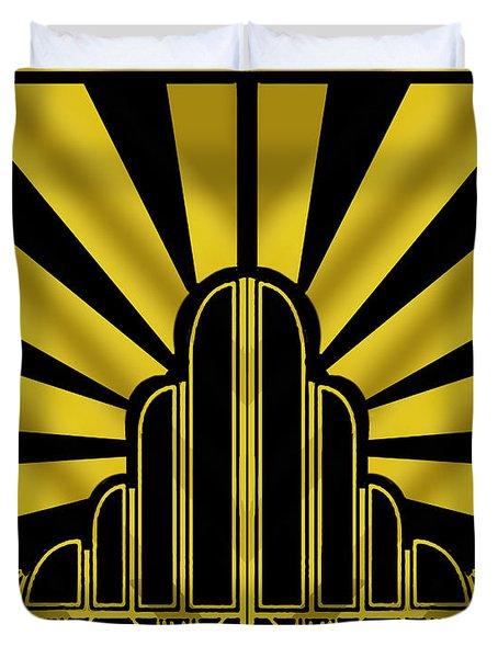 Art Deco Poster - Two Duvet Cover