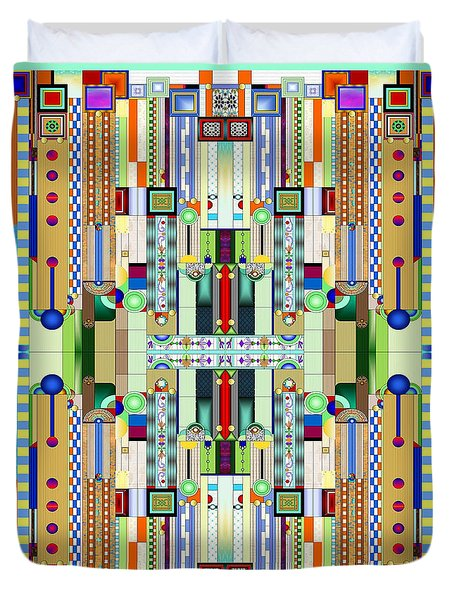 Art Deco Stained Glass 2 Duvet Cover