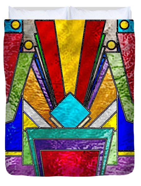 Art Deco - Stained Glass 6 Duvet Cover