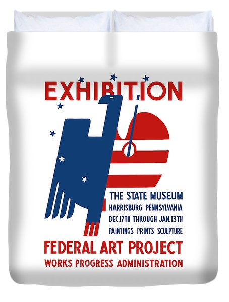 Art Exhibition The State Museum Harrisburg Pennsylvania Duvet Cover by War Is Hell Store