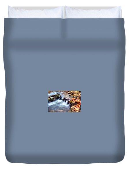 Art For Crohn's Hdr Fall Creek Duvet Cover by Tim Buisman