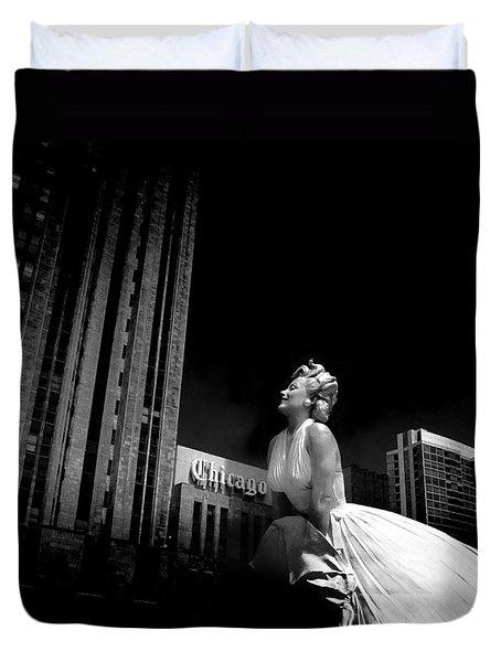 Art In Chicago Duvet Cover