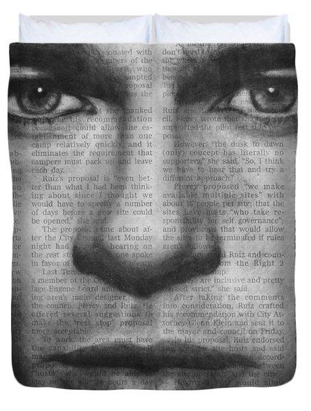 Art In The News 32- Brad Pitt Duvet Cover