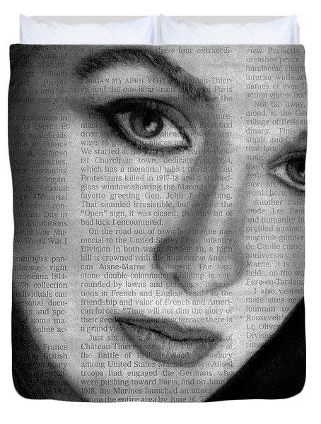 Art In The News 34- Meryl Streep Duvet Cover