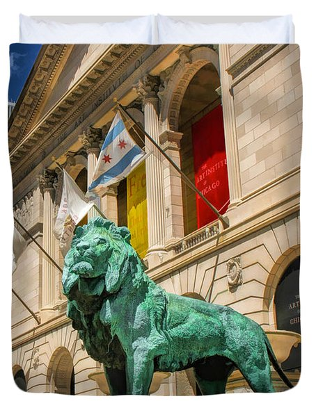Art Institute In Chicago Duvet Cover by Christopher Arndt