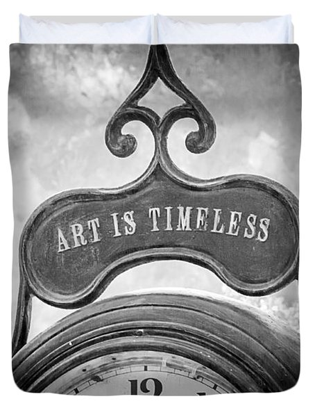 Art Is Timeless Duvet Cover