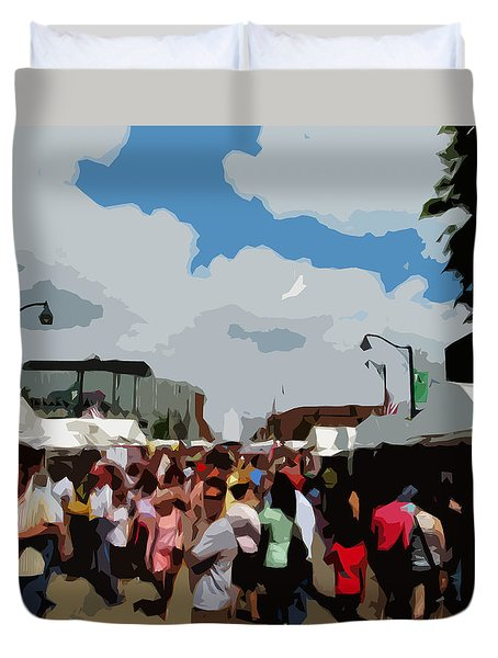 Art On The Square - Belleville Illinois Duvet Cover by John Freidenberg