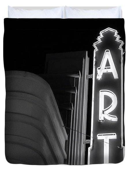 Art Theatre Long Beach Denise Dube Duvet Cover