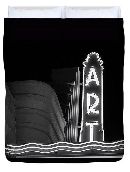 Art Theatre Long Beach Denise Dube Duvet Cover
