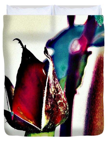 Duvet Cover featuring the photograph Artful Bud by Faith Williams