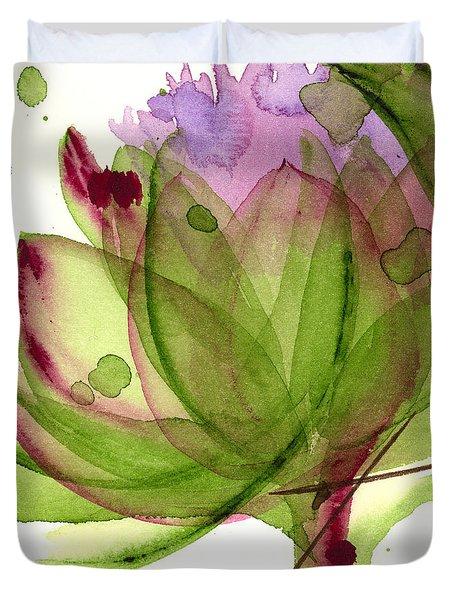 Artichoke Flower Duvet Cover