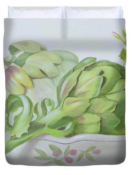 Artichokes Duvet Cover by Lizzie Riches
