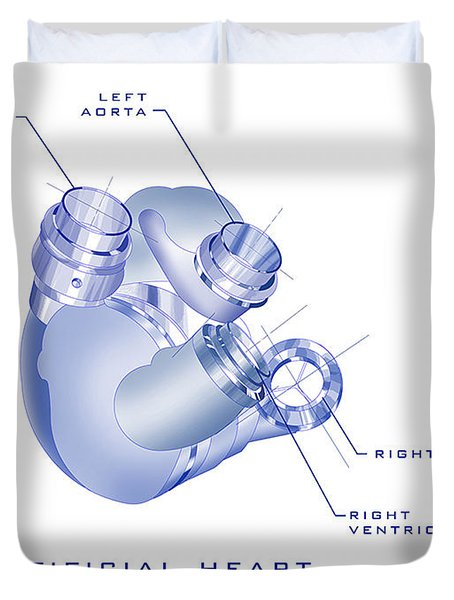 Artificial Heart Duvet Cover