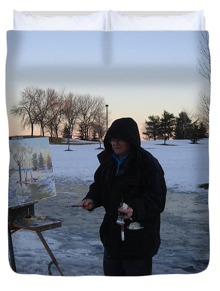 Artist At Work Lake Shore Mississauga On Duvet Cover