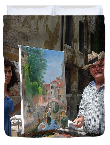 Artist At Work Venice Duvet Cover by Ylli Haruni
