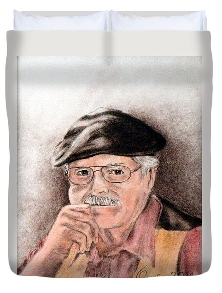 Artist In Solitary Thought Duvet Cover