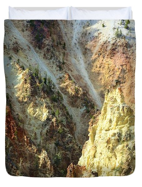 Artist Palette Of Yellowstone Duvet Cover by Kathleen Struckle