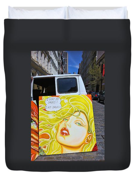 Artist With Attitude Duvet Cover by Allen Beatty