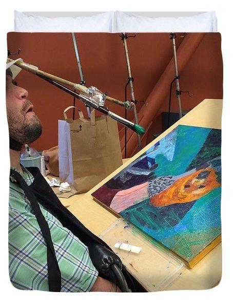 Artist Working Duvet Cover