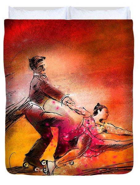Artistic Roller Skating 02 Duvet Cover