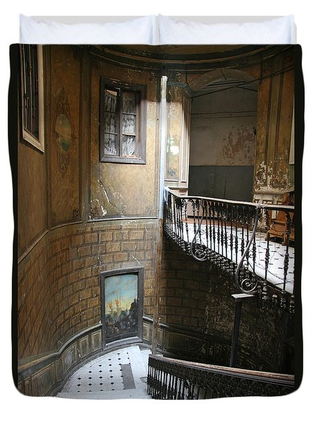 Artistic Staircase In Tbilisi Duvet Cover