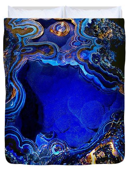 Artists Bisbee Velvet Beauty Azurite Duvet Cover