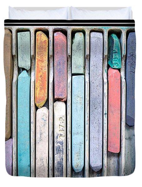 Artists Chalks Duvet Cover by Edward Fielding