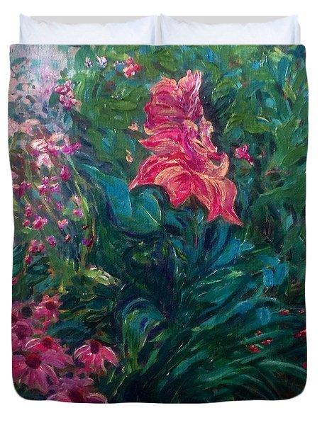 The Artist's Garden In Spring II Duvet Cover