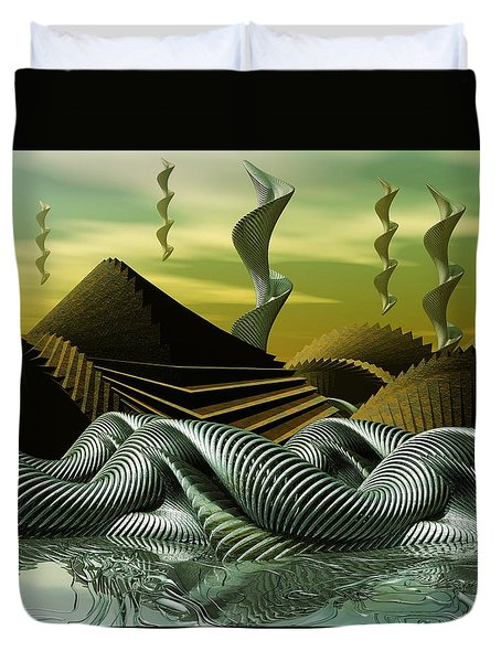Duvet Cover featuring the digital art Artscape by John Alexander
