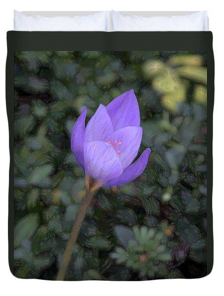 Purple Flower Duvet Cover by John Freidenberg