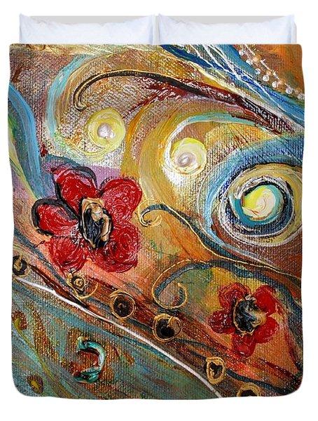 Artwork Fragment 10 Duvet Cover by Elena Kotliarker