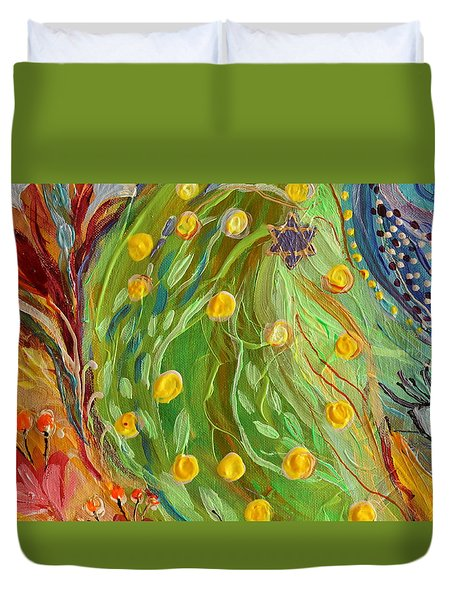 Artwork Fragment 81 Duvet Cover by Elena Kotliarker