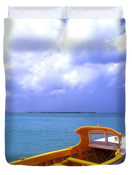 Aruba. Fishing Boat Duvet Cover