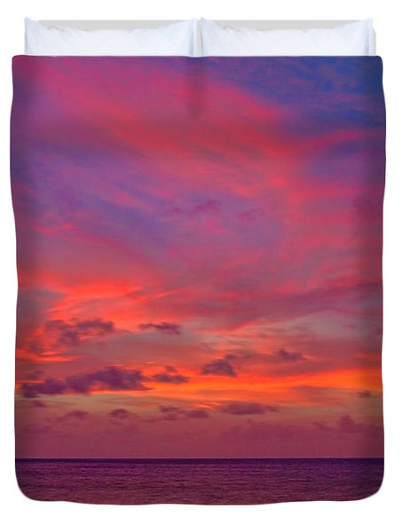Aruba Sunset Duvet Cover