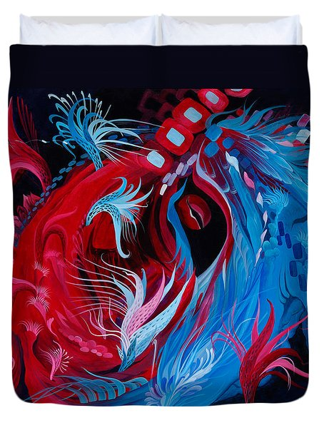 As A Beating Heart Duvet Cover by Adria Trail