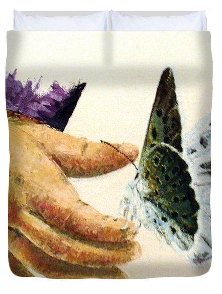 As Delicate As A Butterfly  Duvet Cover by Tatjana Popovska