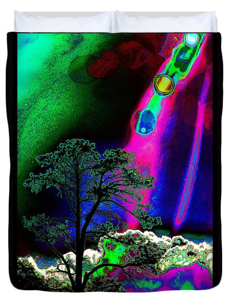 Duvet Cover featuring the photograph As Evening Fell by Susanne Still