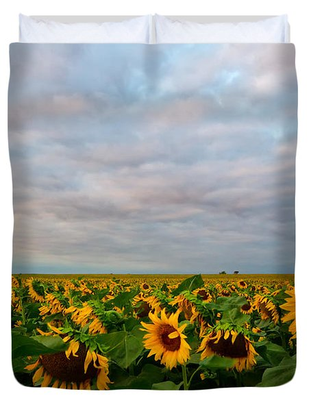 Duvet Cover featuring the photograph As Far As The Eye Can See by Ronda Kimbrow