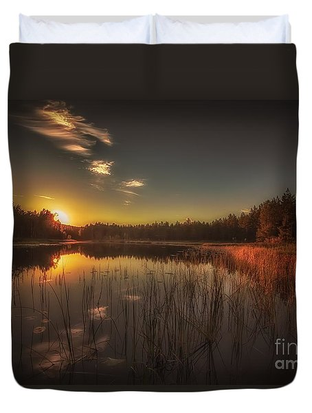 Duvet Cover featuring the photograph As In A Dream by Rose-Maries Pictures
