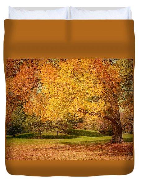 As The Leaves Fall Duvet Cover by Kim Hojnacki