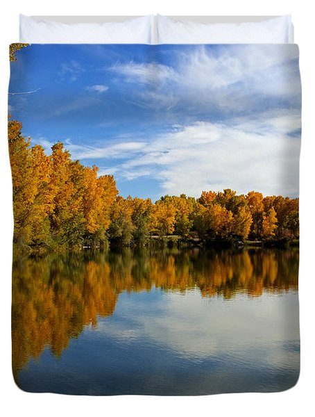 As The Leaves Turn Duvet Cover by Bob Hislop