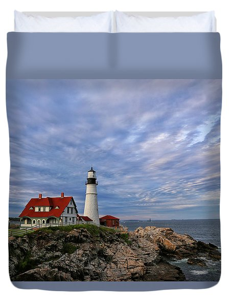 As The Sky Reaches The Water Duvet Cover
