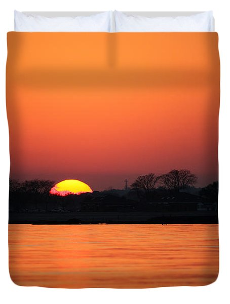 As The Sun Goes Down  Duvet Cover by Karol Livote