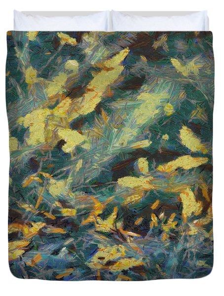 Duvet Cover featuring the painting As The Wind Blows by Joe Misrasi