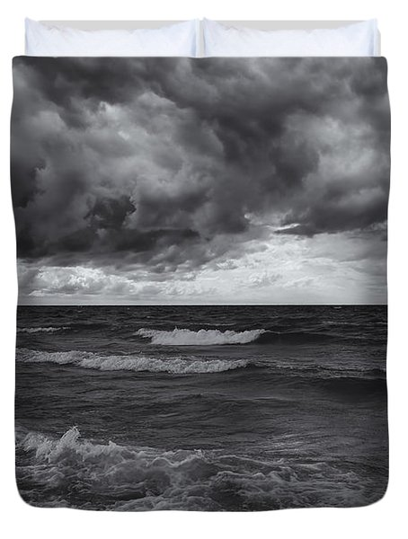 As The World Turns Mono Duvet Cover by Rachel Cohen
